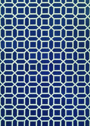 Couristan Bowery Havemeyer Sapphire - Sky Blue Area Rug