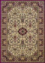 Couristan Everest Ardebil Ivory - Red Area Rug