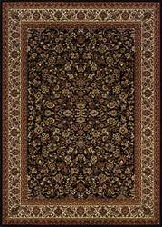 Couristan Everest Isfahan Black Area Rug