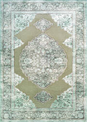 Couristan Cire Floral Medallion Taupe Area Rug