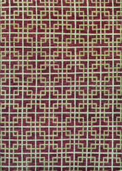 Couristan Retrograde Galaxy Burgundy - Ivory Area Rug