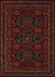 Couristan Old World Classics Kashkai Burgundy Area Rug