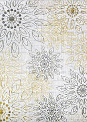 Couristan Calinda Summer Bliss Gold - Silver - Ivory Area Rug