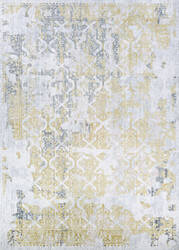 Couristan Calinda Grand Damask Gold - Silver - Ivory Area Rug