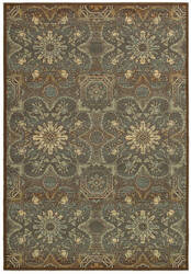 Couristan Alameda Dahlia Brown - Teal Area Rug