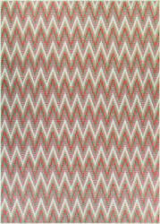 Couristan Monaco Avila Coral - Ivory - Pewter Area Rug