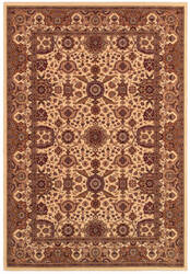 Couristan Himalaya Kailash Antique Cream - Persian Red Area Rug