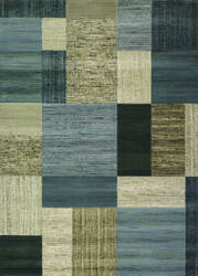 Couristan Everest Geometrics Tan - Teal Area Rug