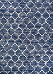 Couristan Easton Ogee Dusk Blue Area Rug