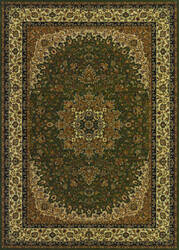Couristan Izmir Royal Kashan Green Area Rug