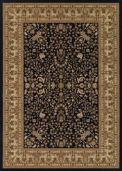 Couristan Izmir Floral Mashhad Black Area Rug
