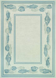 Couristan Dolce Corvina Ivory - Light Blue Area Rug