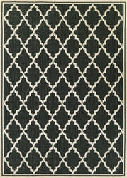 Couristan Monaco Ocean Port Black - Sand Area Rug