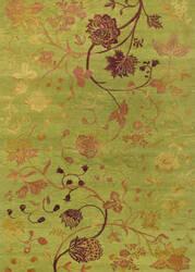 Couristan Impressions Oriental Garden Sage - Raspberry Area Rug