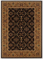 Couristan Royal Kashimar Ushak Black - Deep Maple Area Rug
