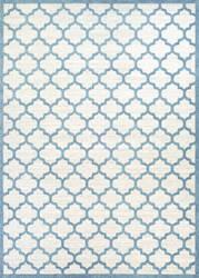 Couristan Marina Garden Gate Oyster - Slate Blue Area Rug