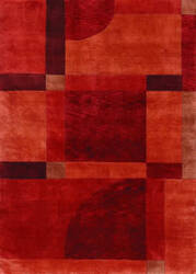 Couristan Pokhara Aurora Red Miso Area Rug