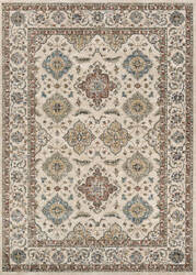 Couristan Monarch Yamut Antique Cream - Mocha Area Rug