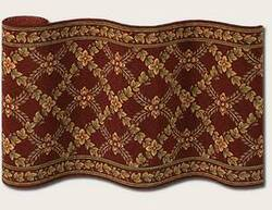Couristan Royal Luxury Woodland Trellis Bordeaux 1325-0002 Custom Length Runner
