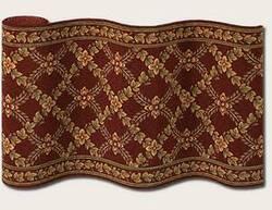 Couristan Royal Luxury Woodland Trellis Bordeaux 1325-0002 Custom Length Runner