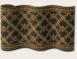 Couristan Royal Luxury Woodland Trellis Ebony 1325-0003 Custom Length Runner