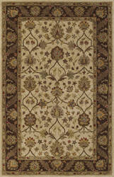 Dalyn Jewel Jw33 Ivory/Chocolate Area Rug