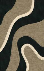 Rugstudio Riley DL16 Black-Silver-Snow Area Rug