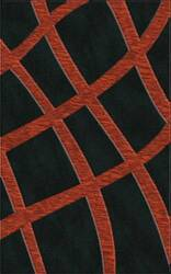 Rugstudio Riley DL24 Black-Rich Red Area Rug