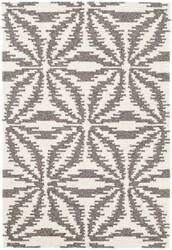 Dash And Albert Aster Micro Hooked Grey Area Rug