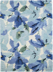 Dash And Albert Audrey Wool Blue Area Rug