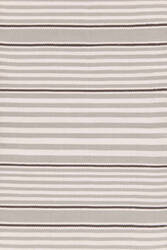 Dash And Albert Beckham Stripe Platinum Area Rug