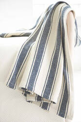 Dash And Albert Blue Awning Throw