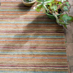 Dash and Albert Brindle Stripe Spice Area Rug