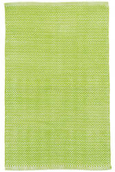 Dash And Albert C3 Herringbone Indoor-Outdoor Green Area Rug