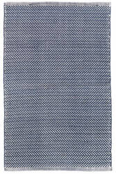 Dash And Albert C3 Herringbone Indoor-Outdoor Indigo Area Rug