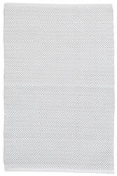 Dash And Albert C3 Herringbone Indoor-Outdoor Pearl Grey Area Rug