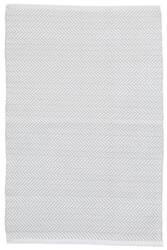 Dash And Albert C3 Herringbone Indoor-Outdoor Pearl Grey Area Rug