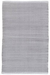 Dash And Albert C3 Herringbone Indoor-Outdoor Shale Area Rug