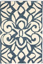 Dash And Albert Chandelier Ink Blue Area Rug