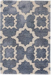 Dash And Albert China Knotted Blue Area Rug