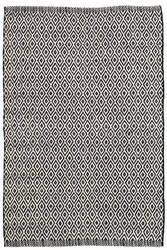 Dash And Albert Crystal Indoor-Outdoor Black - Ivory Area Rug