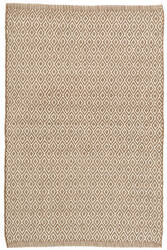 Dash And Albert Crystal Indoor-Outdoor Brown - Ivory Area Rug