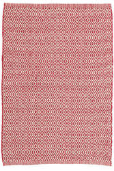 Dash And Albert Crystal Indoor-Outdoor Red - Ivory Area Rug
