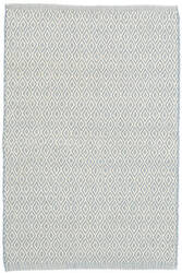 Dash And Albert Crystal Indoor-Outdoor Swedish Blue - Ivory Area Rug