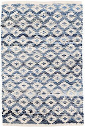 Dash And Albert Denim Rag Woven Ivory Area Rug