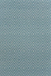 Dash and Albert Diamond 56196 Slate/Light Blue Area Rug