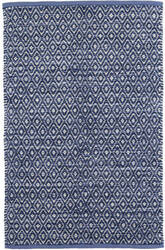 Dash And Albert Diamond Chenille Blue Area Rug