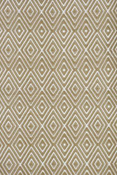 Dash and Albert Diamond 56193 Khaki/White Area Rug