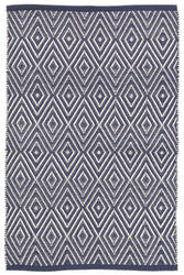 Dash And Albert Diamond Indoor-Outdoor Navy - Ivory Area Rug
