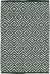 Dash And Albert Diamond Geometric Ivory Pine Area Rug